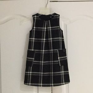 Gap 5 black white grey plaid wool like jumper euc